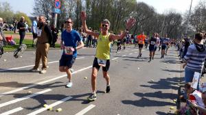 Ed de Graaf tijdens de marathon